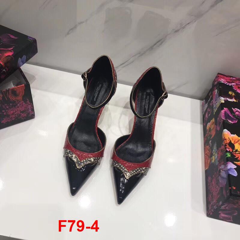 F79-4 Dolce Gabbana sandal cao 6cm siêu cấp