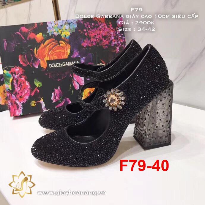 F79-40 Dolce Gabbana giày cao 10cm siêu cấp