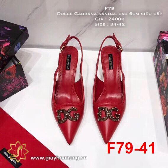 F79-41 Dolce Gabbana sandal cao 6cm siêu cấp