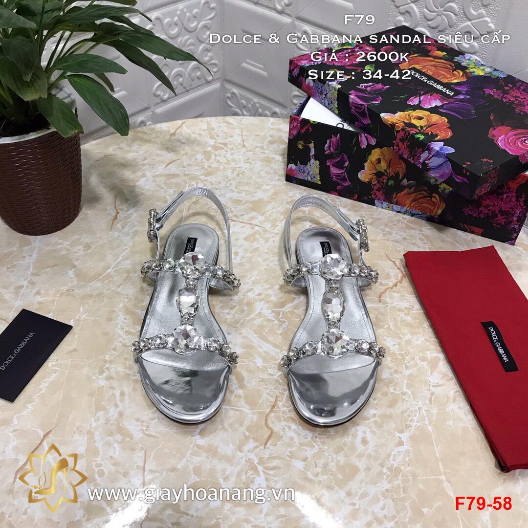 F79-58 Dolce & Gabbana sandal siêu cấp