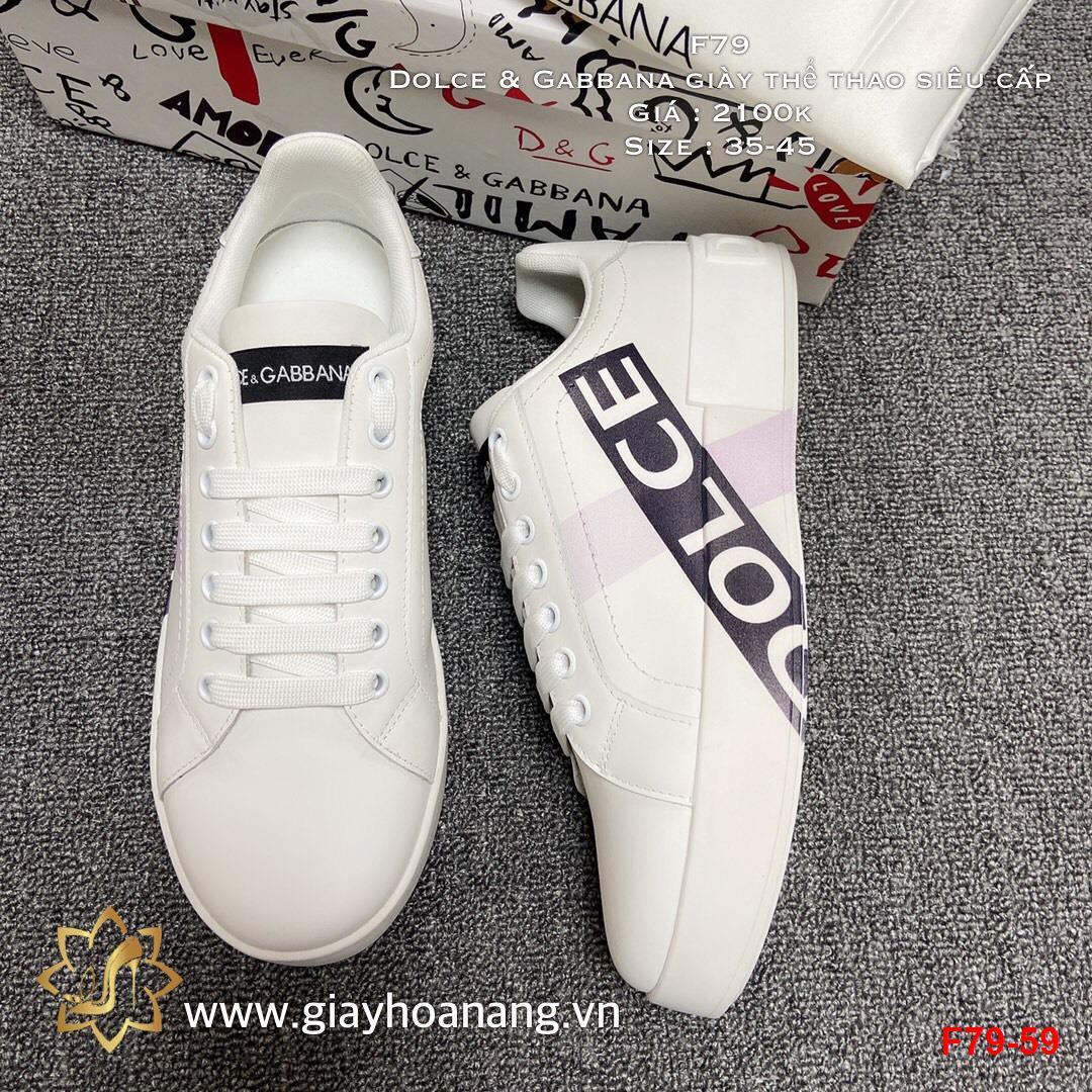 F79-59 Dolce & Gabbana giày thể thao siêu cấp