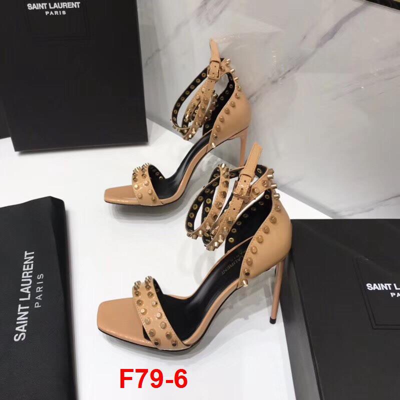 F79-6 Saint Laurent sandal cao 10cm siêu cấp