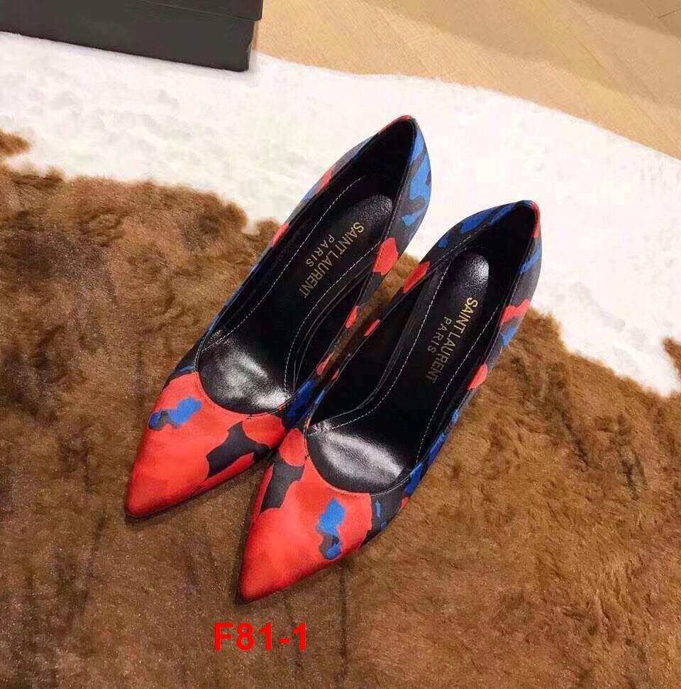 F81-1 Yves Saint Laurent YSL giày cao 11cm siêu cấp