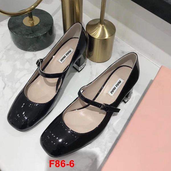 F86-6 Miu Miu giày cao 5cm siêu cấp