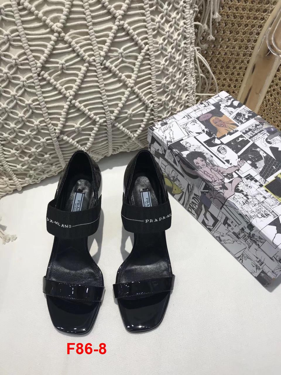 F86-8 Prada sandal cao 9cm siêu cấp