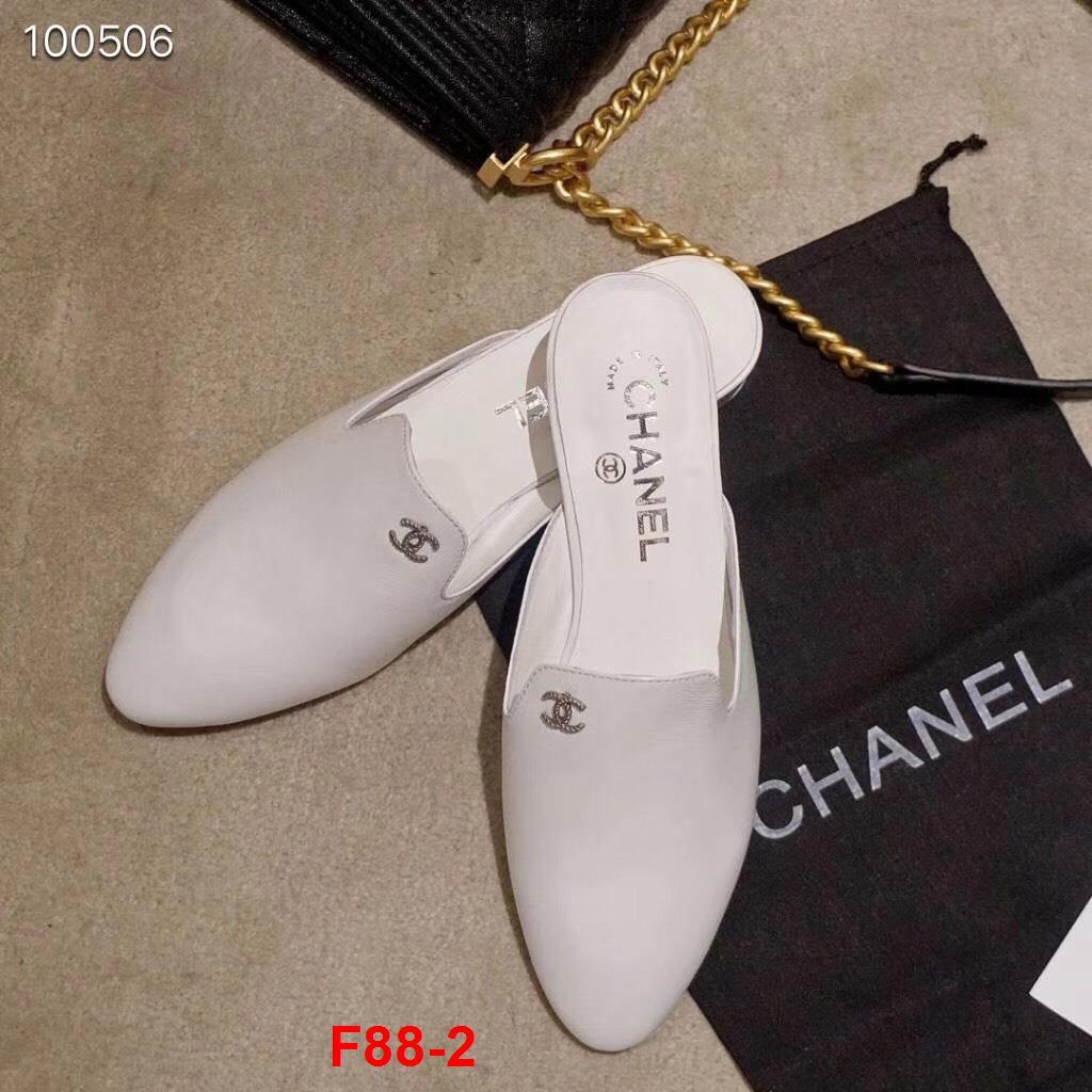 F88-2 Chanel dép cao 3cm siêu cấp