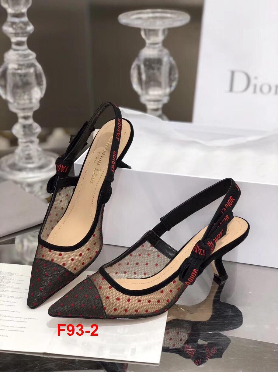 F93-2 Dior sandal cao 6cm, 9cm, bệt siêu cấp