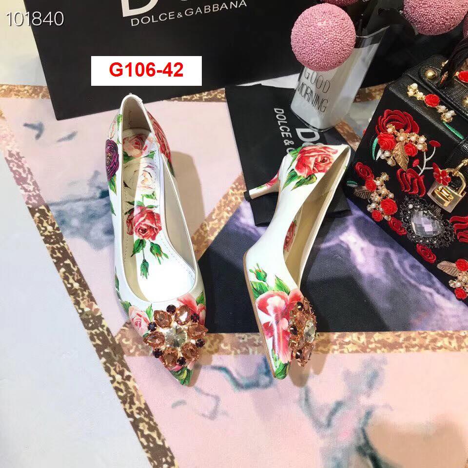 G106-42 Dolce Gabbana giày cao 6cm, 9cm siêu cấp