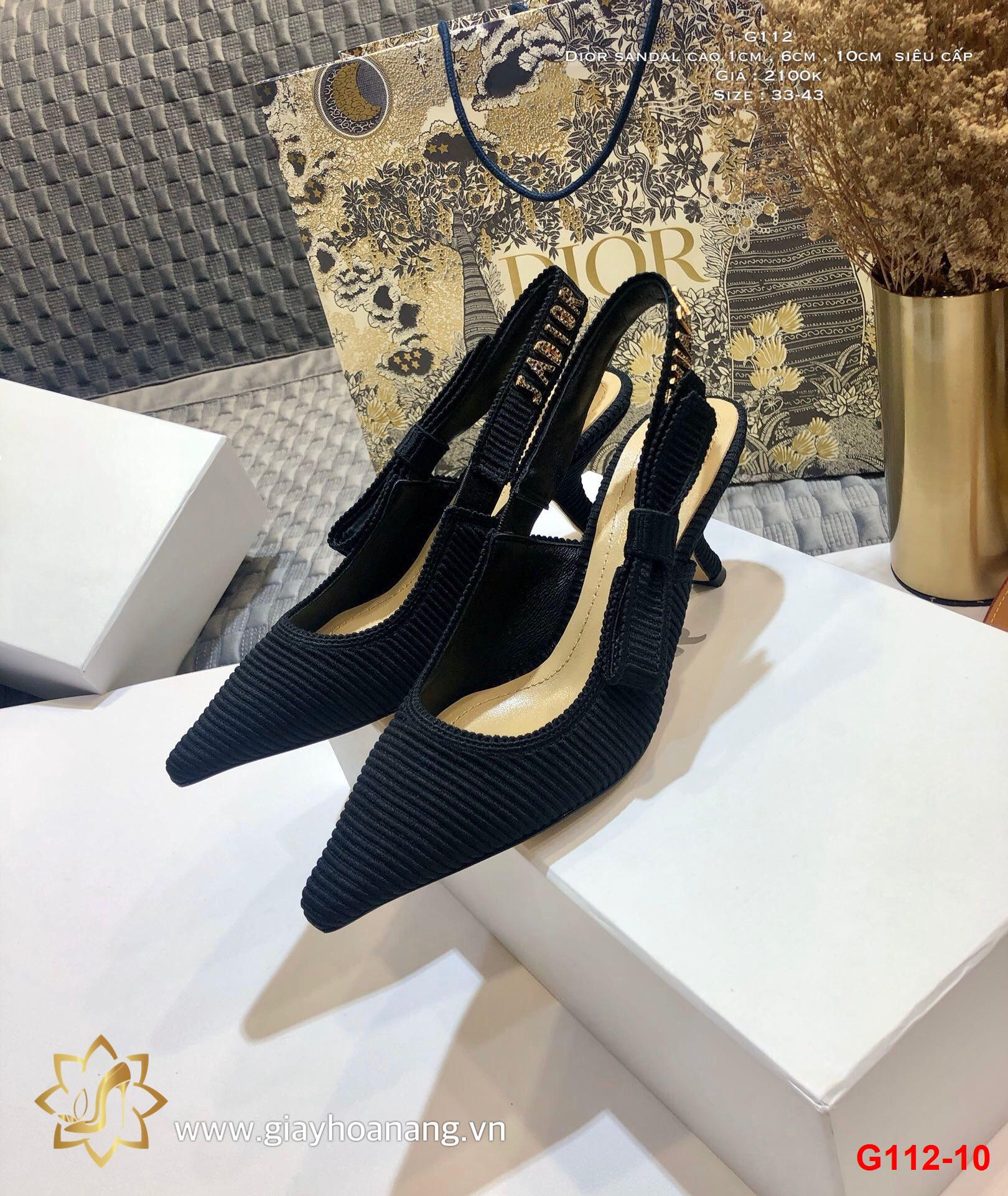 G112-10 Dior sandal cao 1cm , 6cm , 10cm  siêu cấp