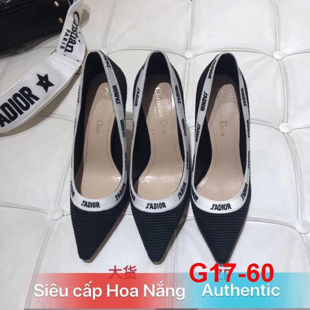 G17-60 Dior giày bệt, cao 6cm, 10cm siêu cấp