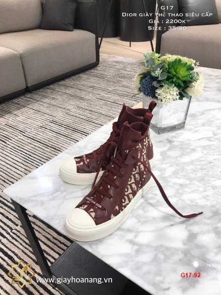 G17-92 Dior giày thể thao siêu cấp