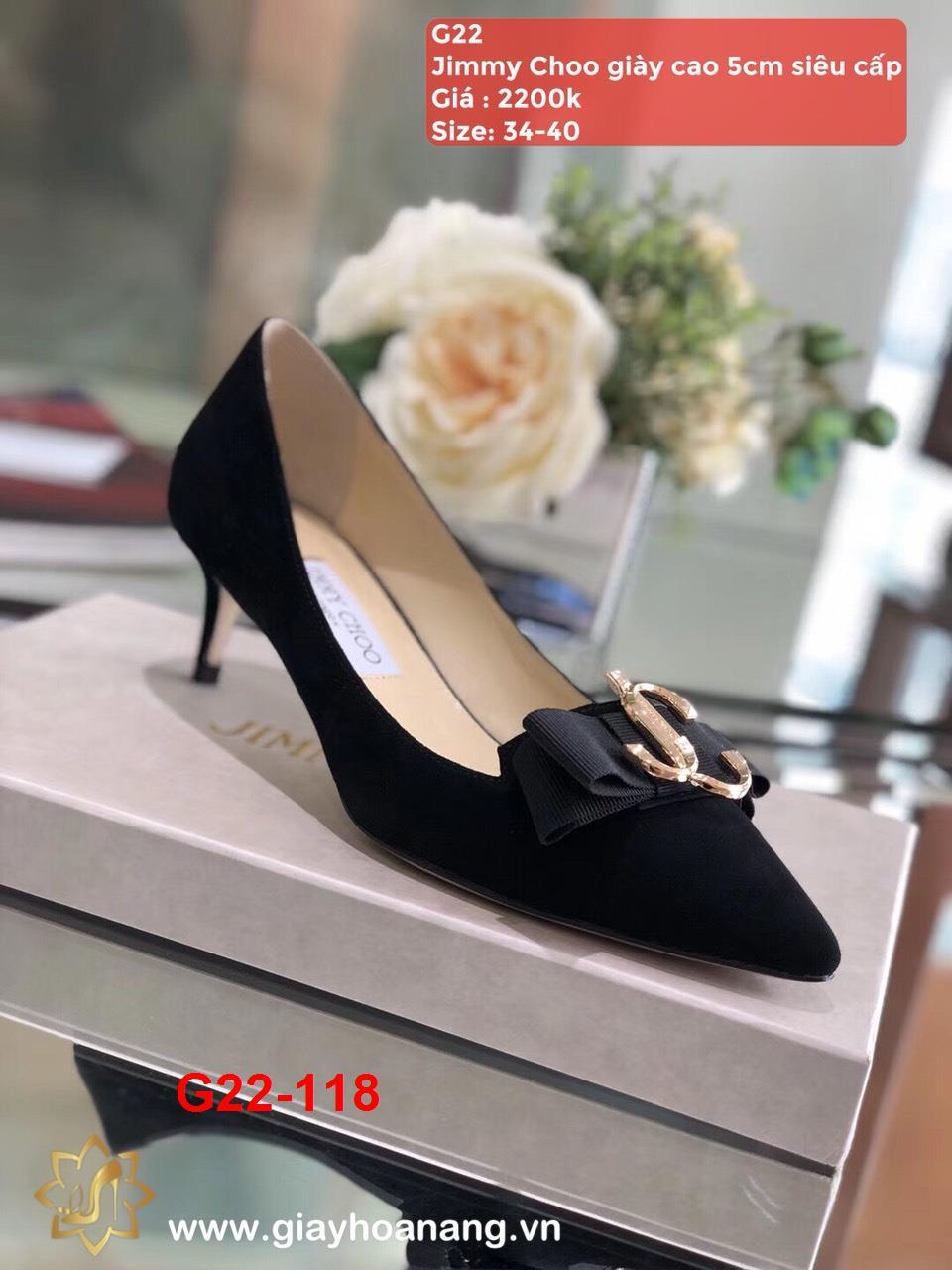 G22-118 Jimmy Choo giày cao 5cm siêu cấp