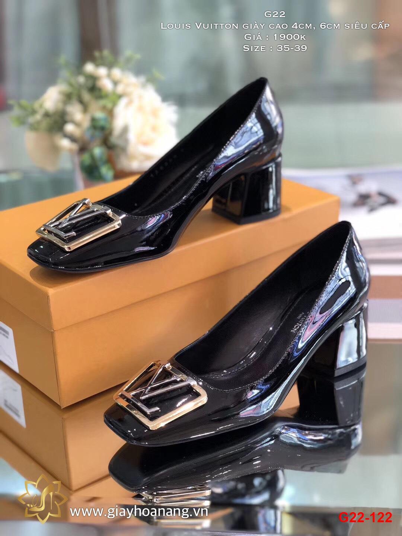G22-122 Louis Vuitton giày cao 4cm, 6cm siêu cấp