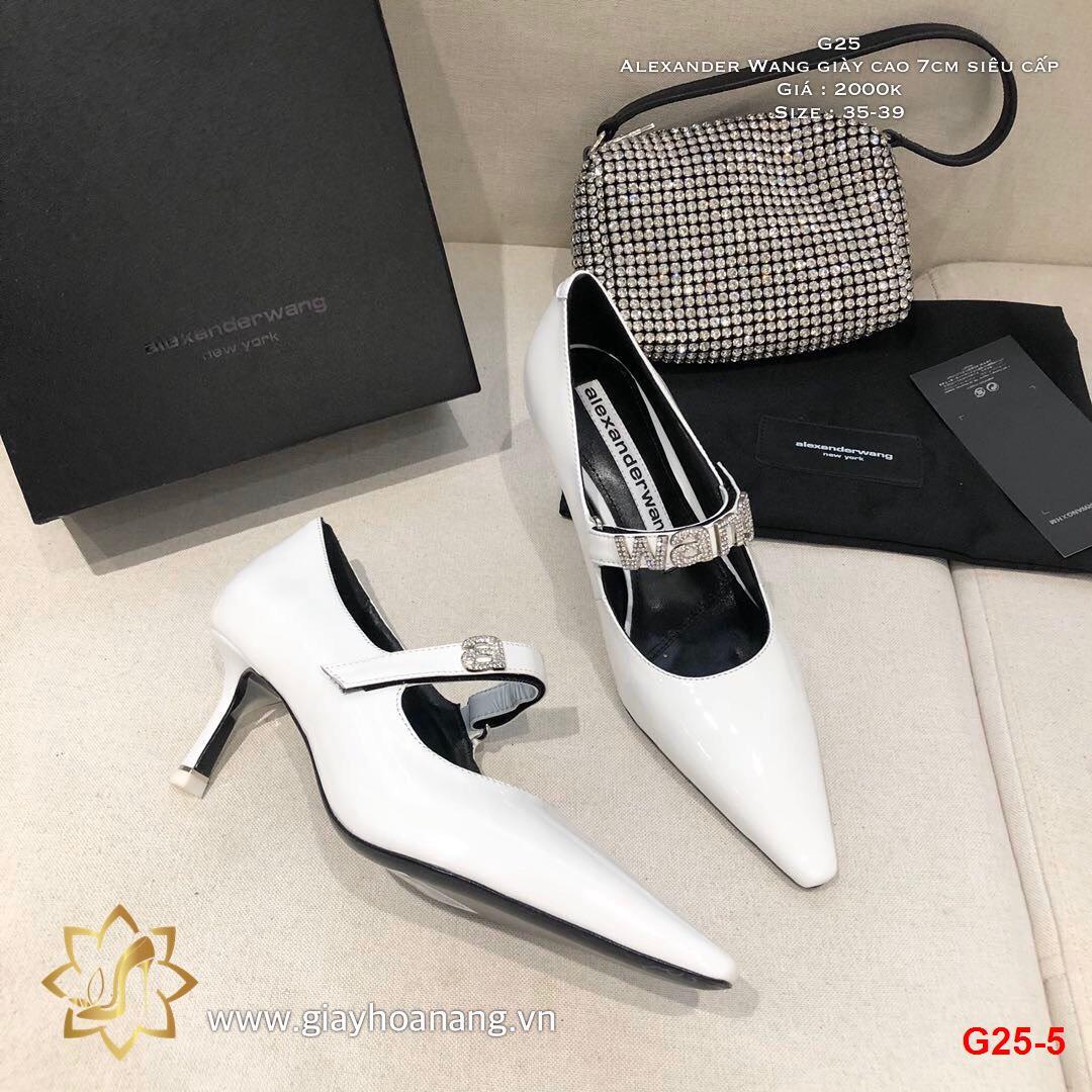 G25-5 Alexander Wang giày cao 7cm siêu cấp