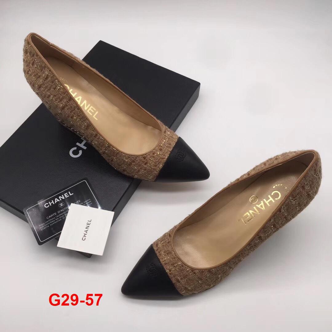 G29-57 Chanel giày cao 8cm đế xuồng siêu cấp