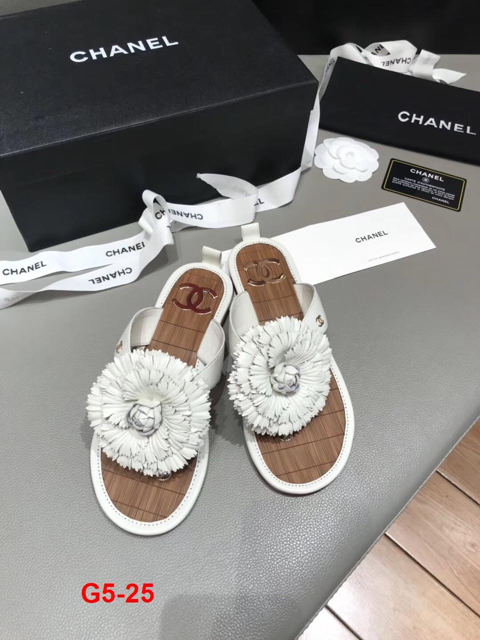 G5-25 Chanel dép bệt siêu cấp
