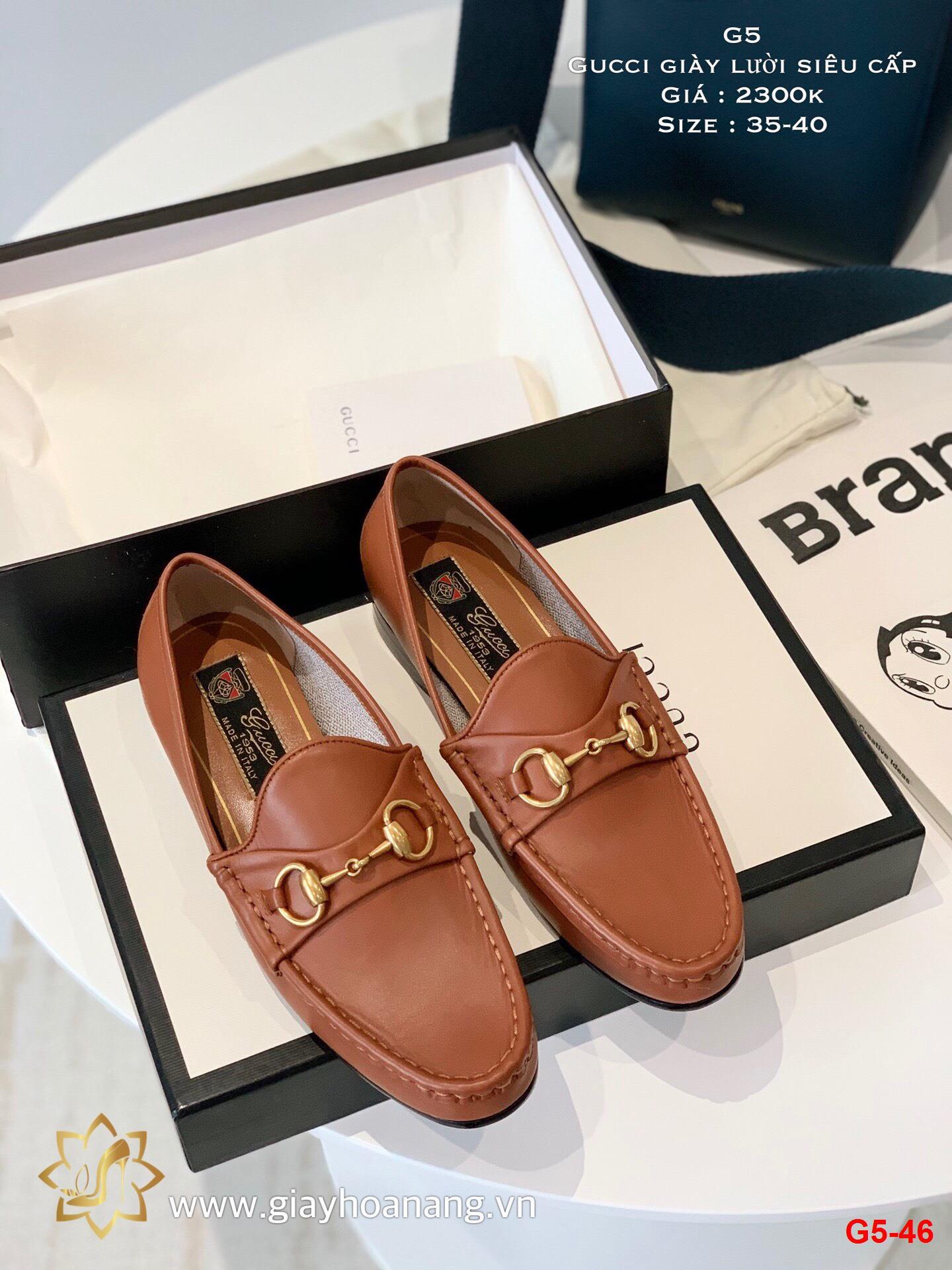 G5-46 Gucci giày lười siêu cấp