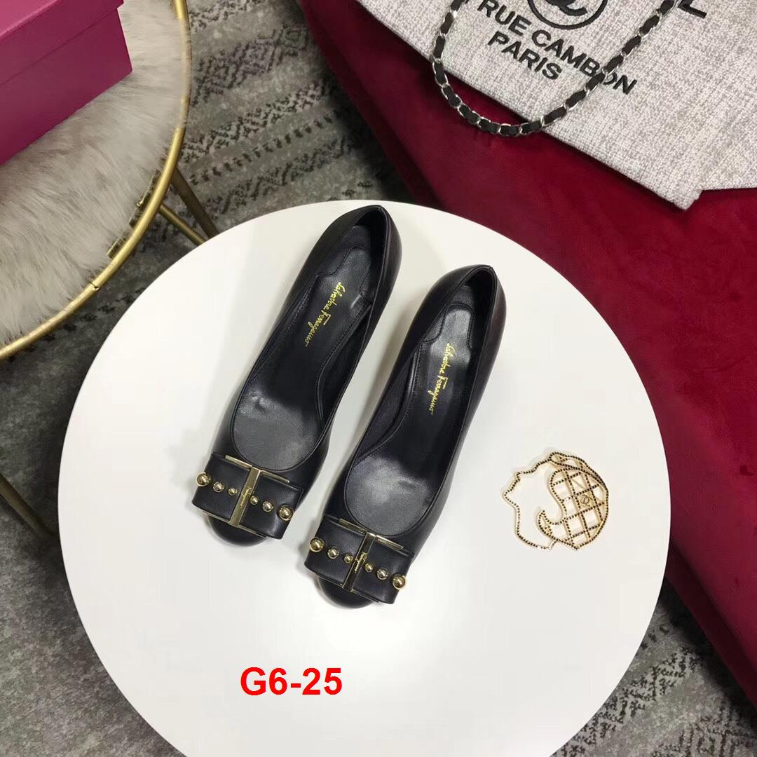 G6-25 Salvatore Ferragamo giày cao 5cm siêu cấp