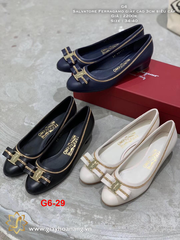 G6-29 Salvatore Ferragamo giày cao 3cm siêu cấp