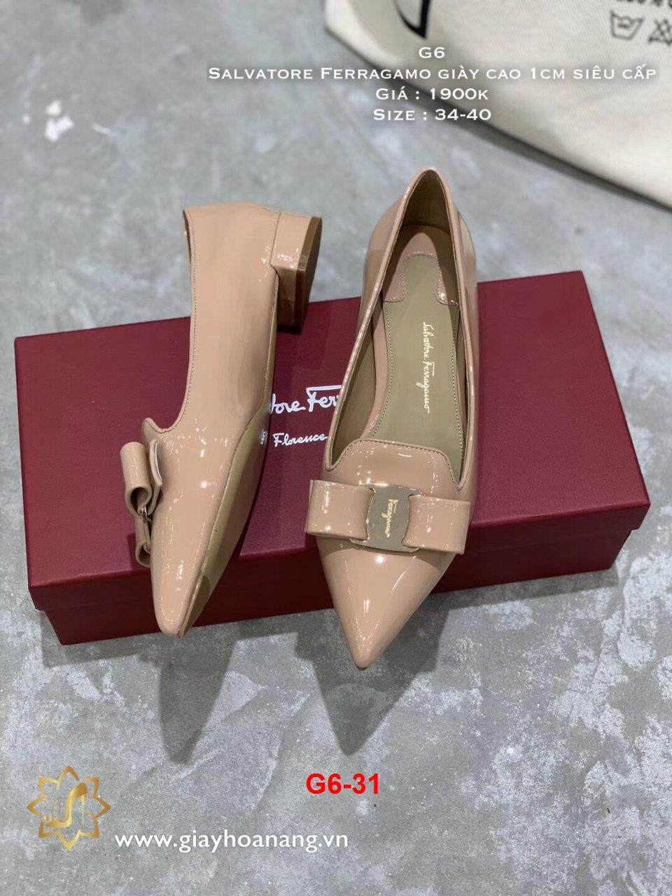 G6-31 Salvatore Ferragamo giày cao 1cm siêu cấp