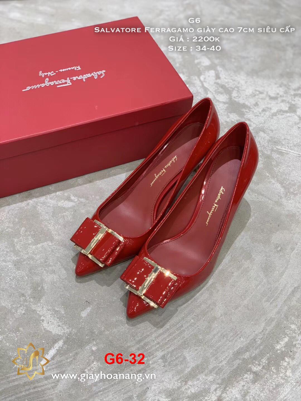 G6-32 Salvatore Ferragamo giày cao 7cm siêu cấp