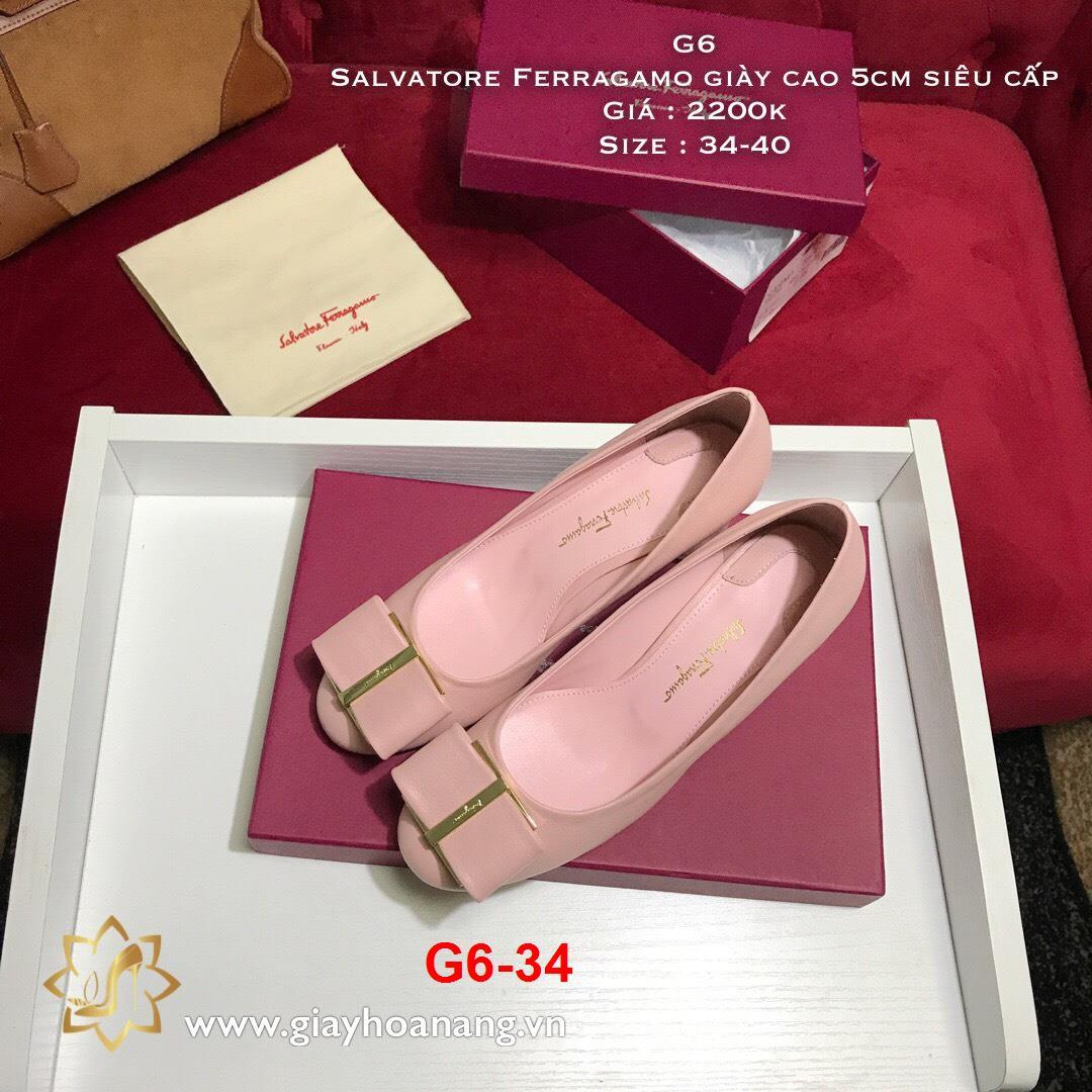 G6-34 Salvatore Ferragamo giày cao 5cm siêu cấp
