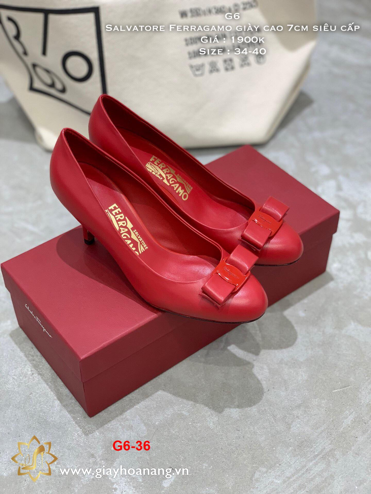 G6-36 Salvatore Ferragamo giày cao 7cm siêu cấp