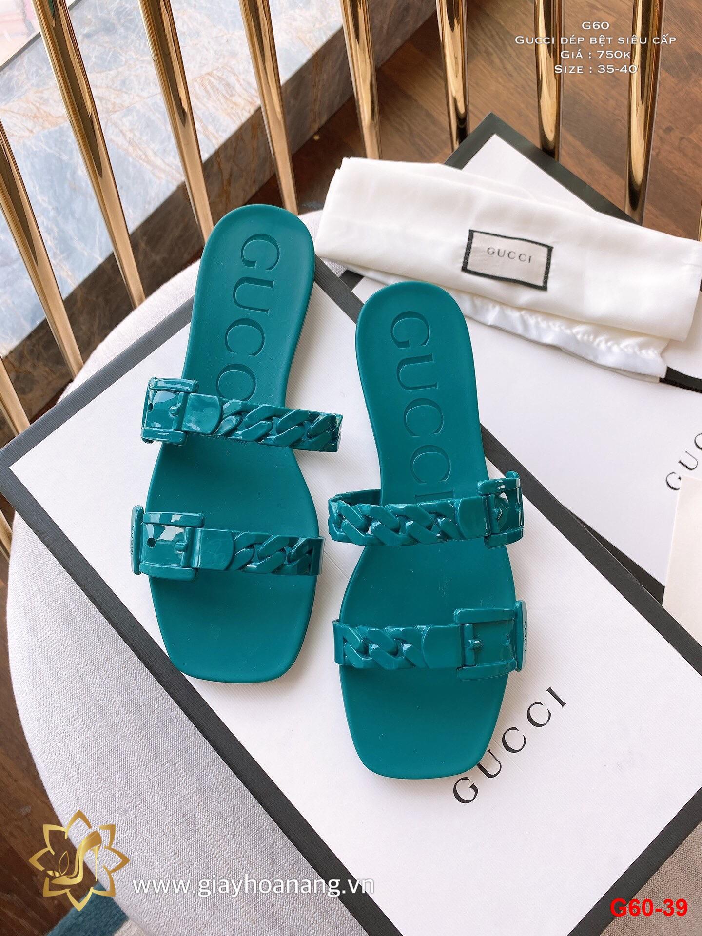 G60-39 Gucci dép bệt siêu cấp