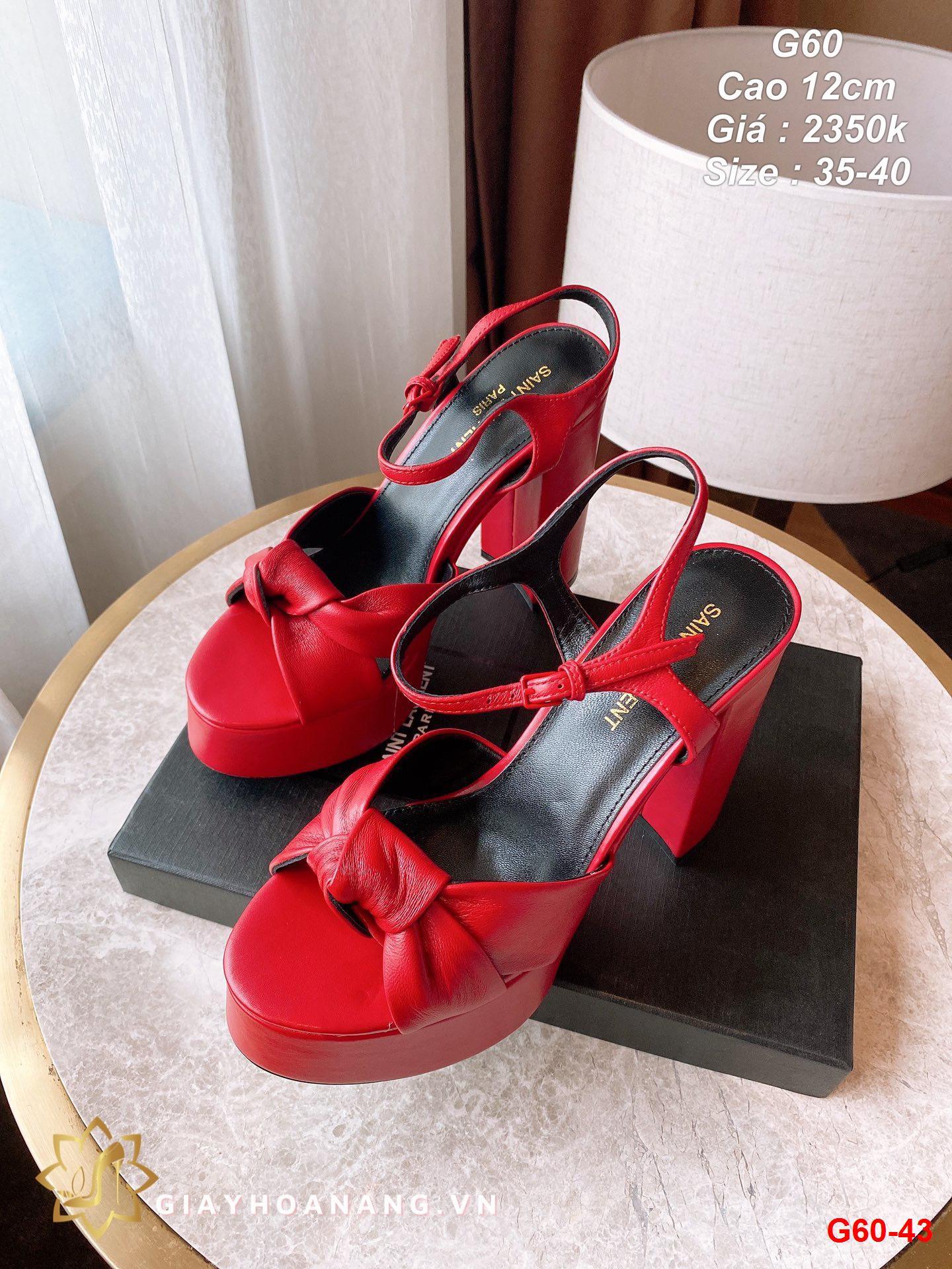 G60-43 Saint Laurent sandal cao 12cm siêu cấp