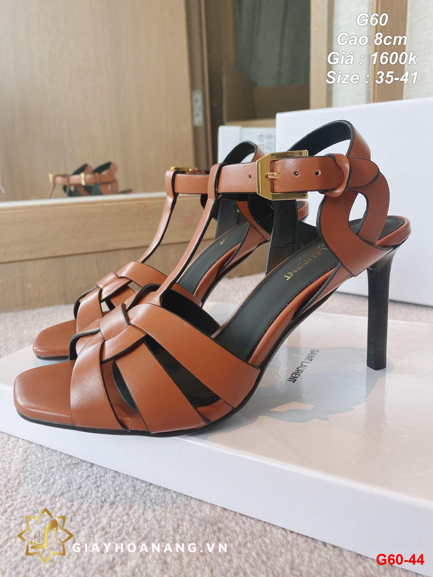 G60-44 Saint Laurent sandal cao 8cm siêu cấp