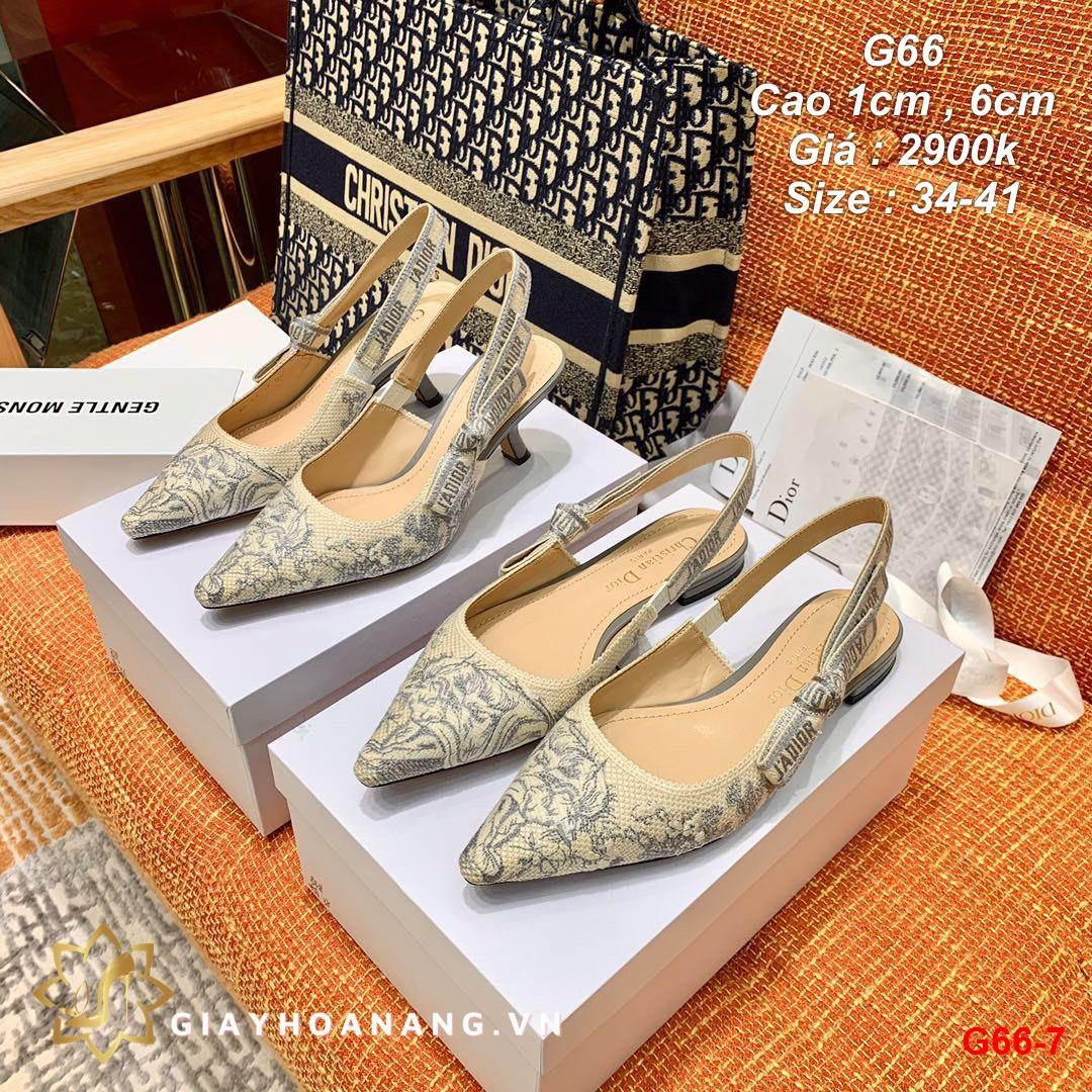 G66-7 Dior sandal cao 1cm , 6cm siêu cấp