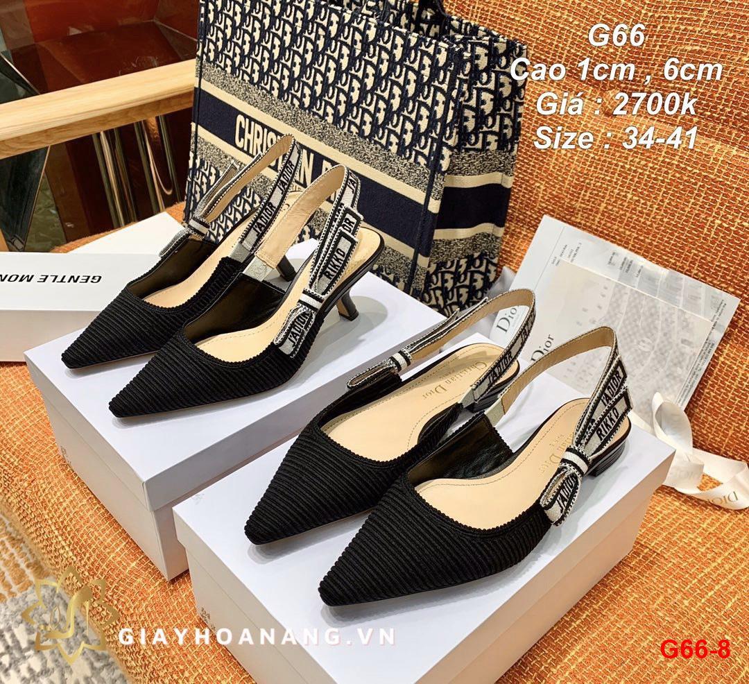 G66-8 Dior sandal cao 1cm , 6cm siêu cấp