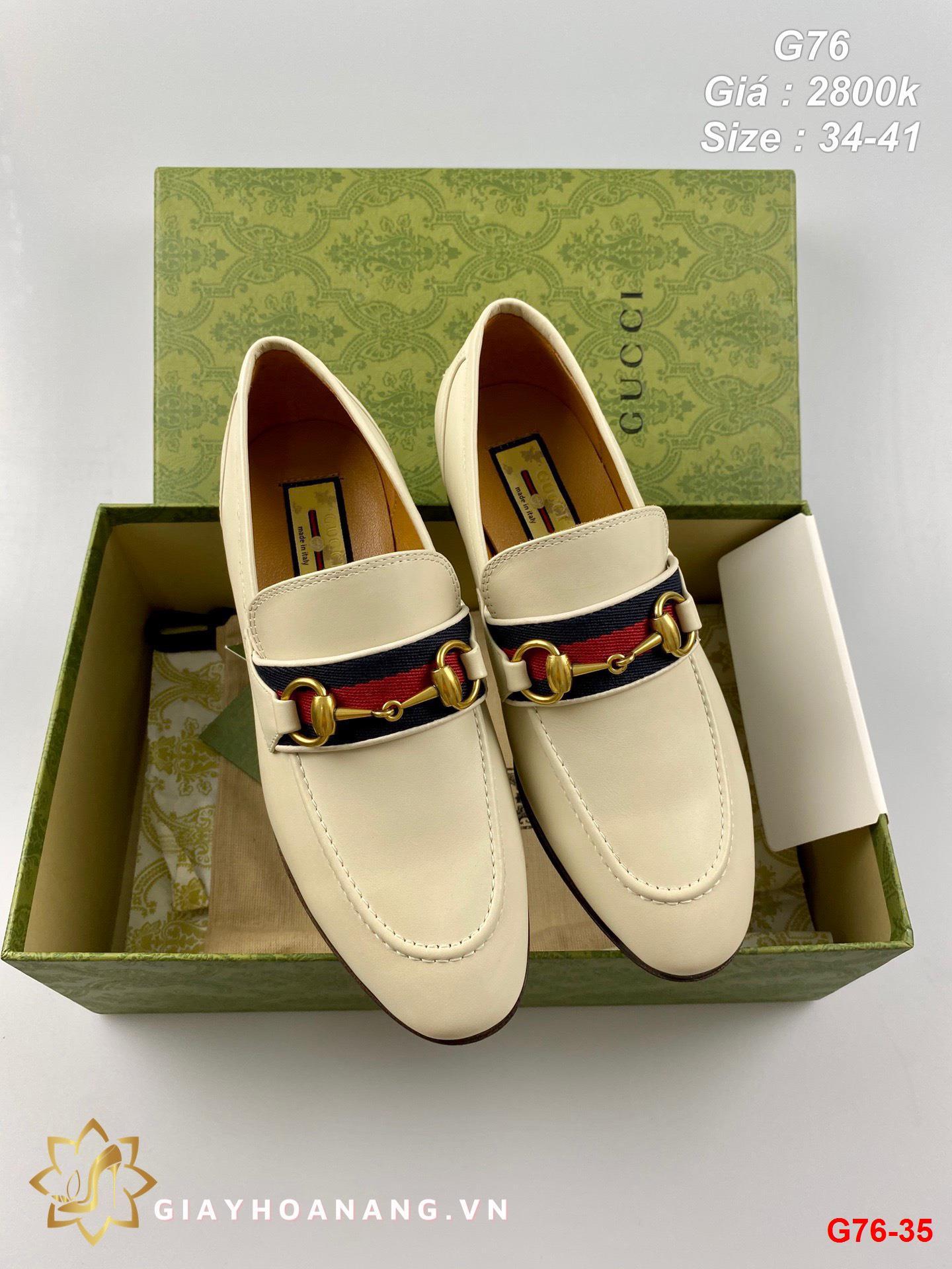 G76-35 Gucci giày lười siêu cấp