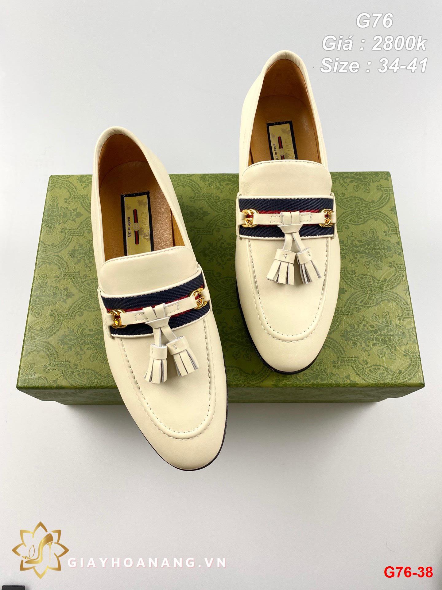 G76-38 Gucci giày lười siêu cấp