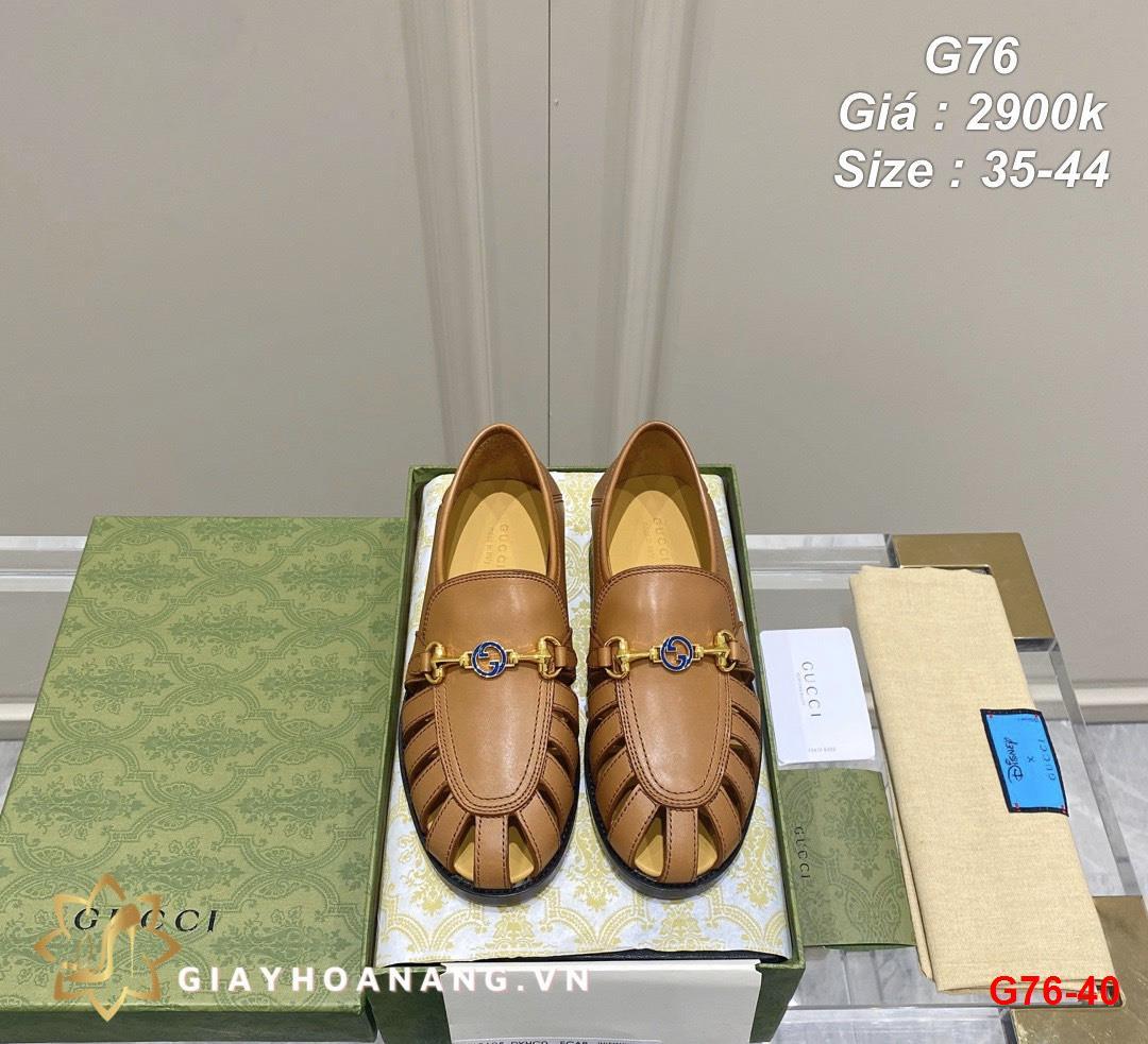 G76-40 Gucci giày lười siêu cấp