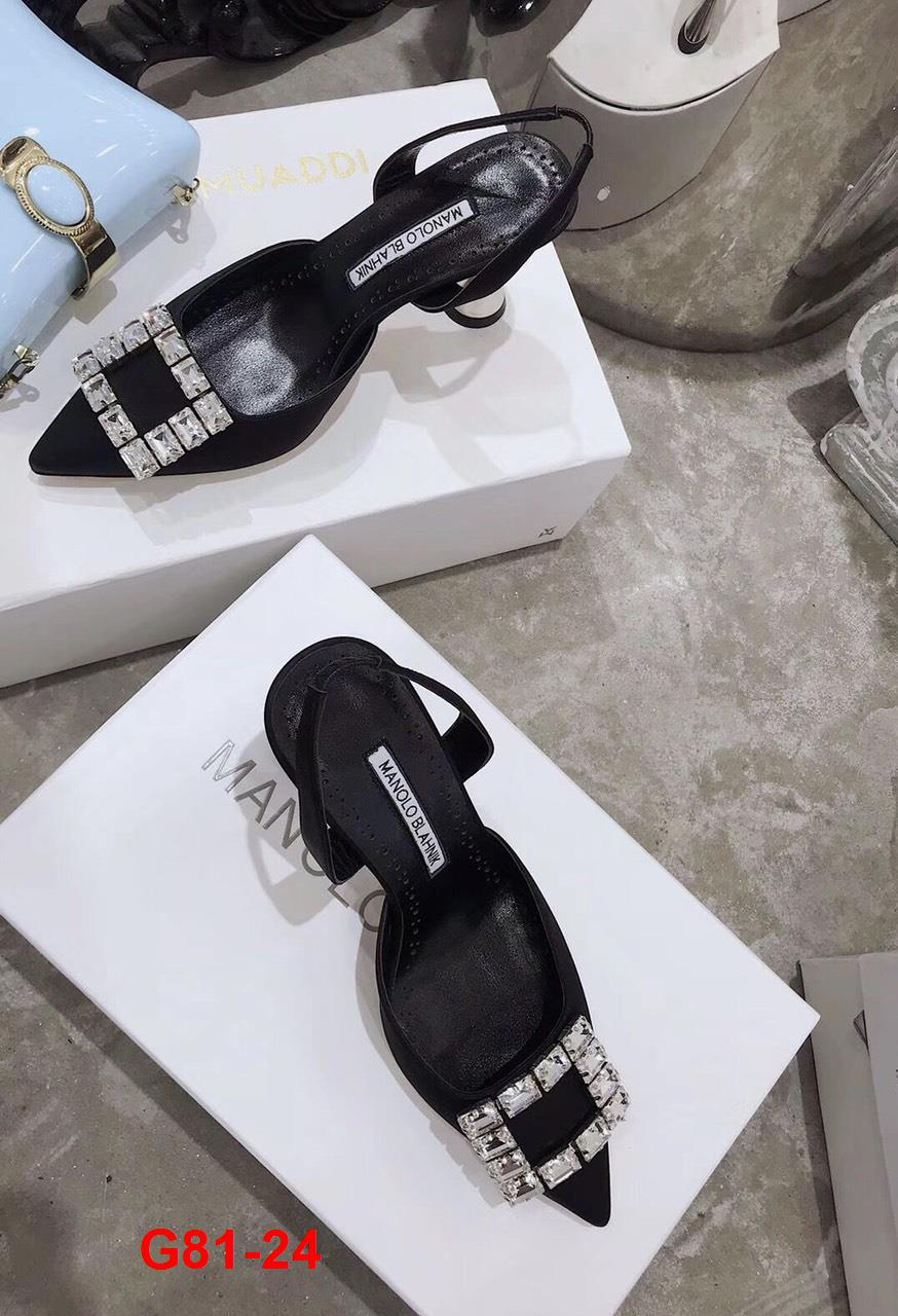 G81-24 Manolo Blahnik sandal cao 7cm siêu cấp