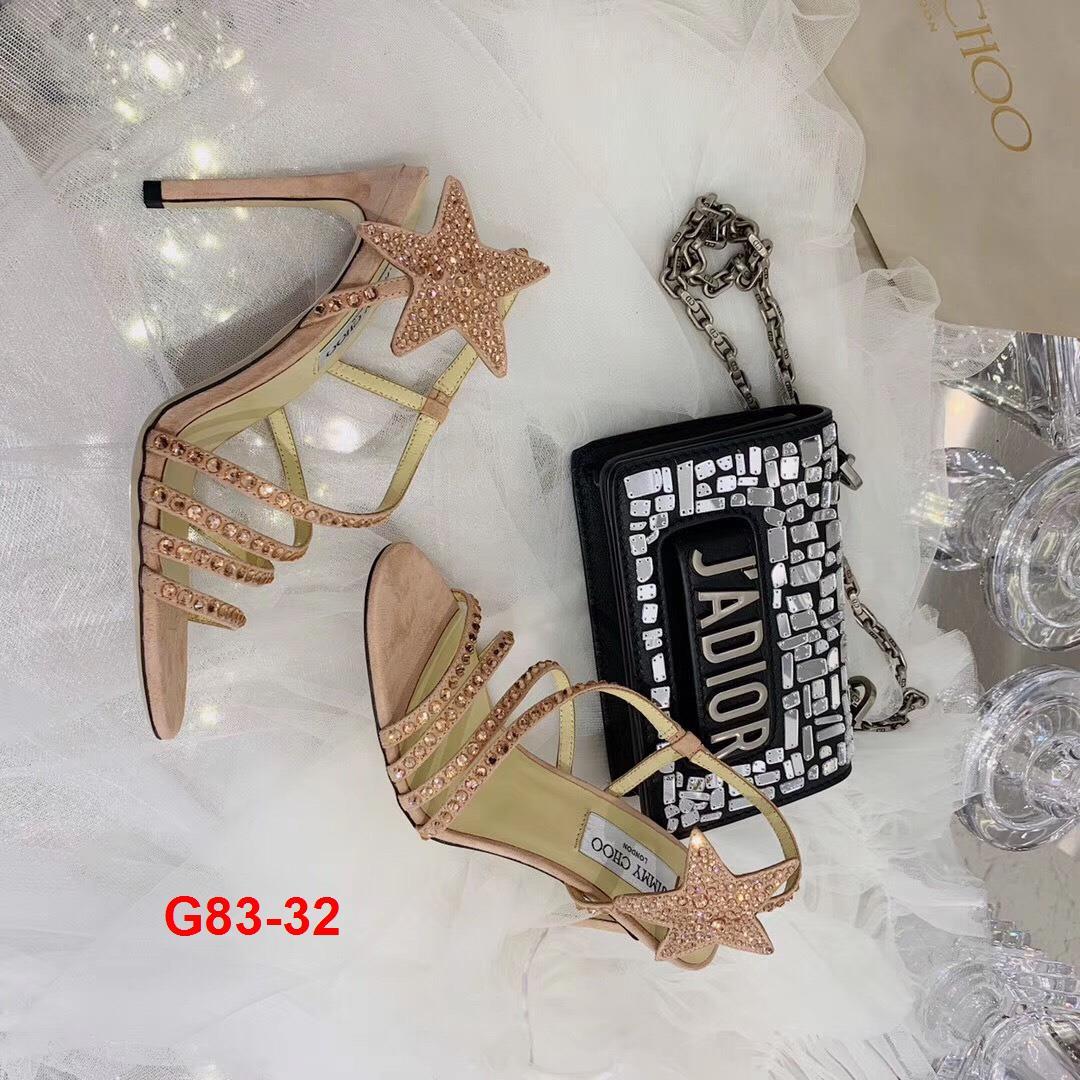 G83-32 Jimmy Choo sandal cao 10cm siêu cấp