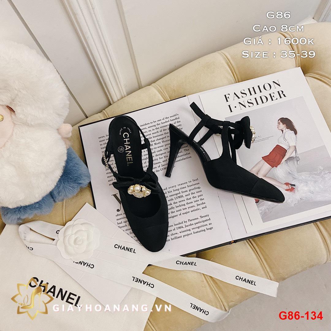 G86-134 Chanel sandal cao 8cm siêu cấp