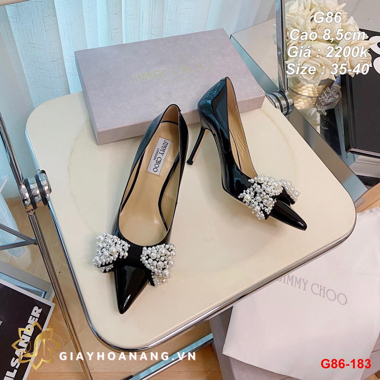 G86-183 Jimmy Choo giày cao 8,5cm siêu cấp