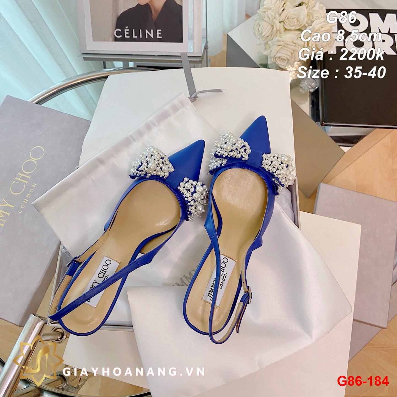 G86-184 Jimmy Choo sandal cao 8,5cm siêu cấp