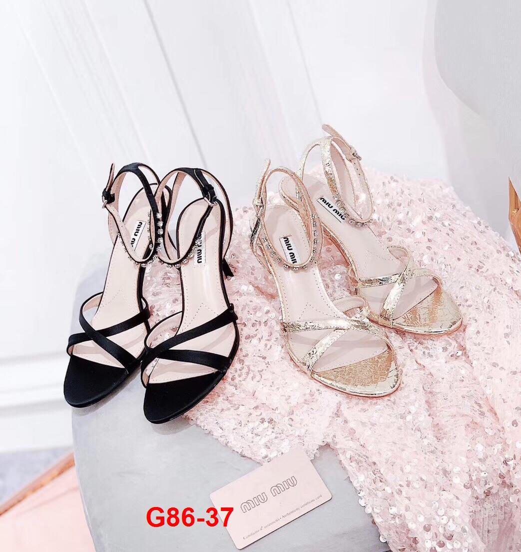 G86-37 Miu Miu sandal cao 9cm siêu cấp