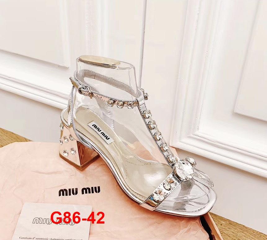 G86-42 Miu Miu sandal cao 6cm siêu cấp