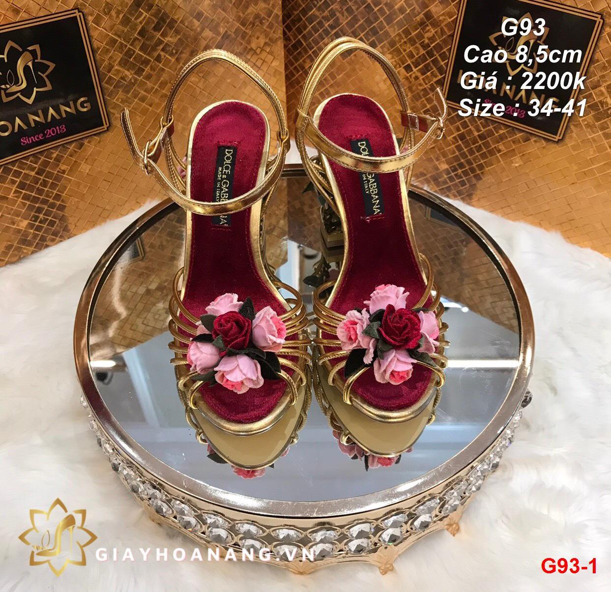 G93-1 Dolce & Gabbana sandal cao 8,5cm siêu cấp