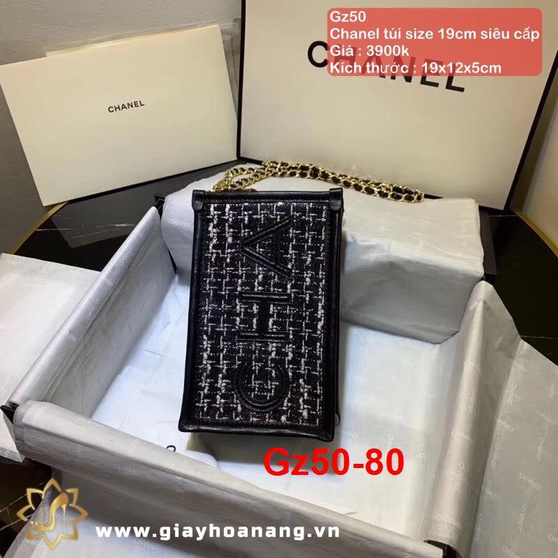 Gz50-80 Chanel túi size 19cm siêu cấp