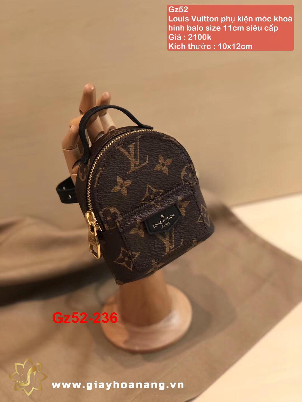Gz52-236 Louis Vuitton phụ kiện móc khoá hình balo size 11cm siêu cấp