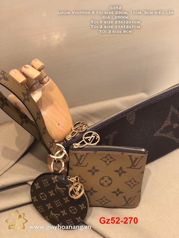 Gz52-270 Louis Vuitton 3 túi size 23cm, 11cm, 9cm siêu cấp