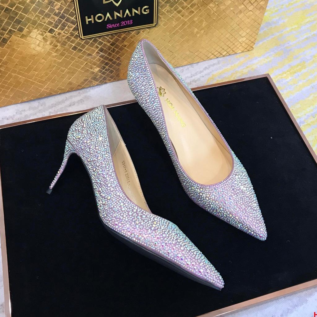 H036-2 Louboutin giày đính đá cao 7cm  siêu cấp