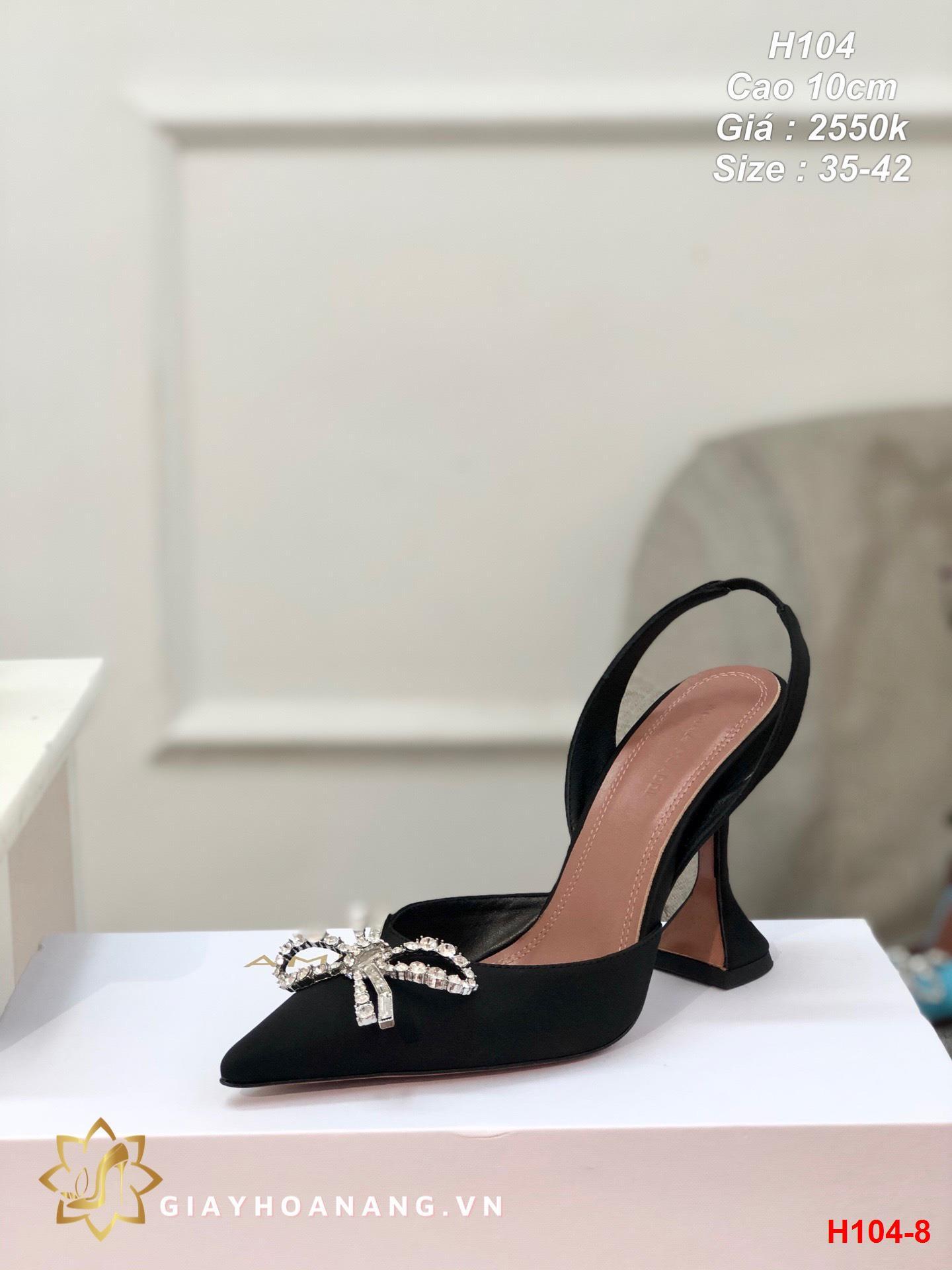 H104-8 Amina Muaddi sandal cao 10cm siêu cấp