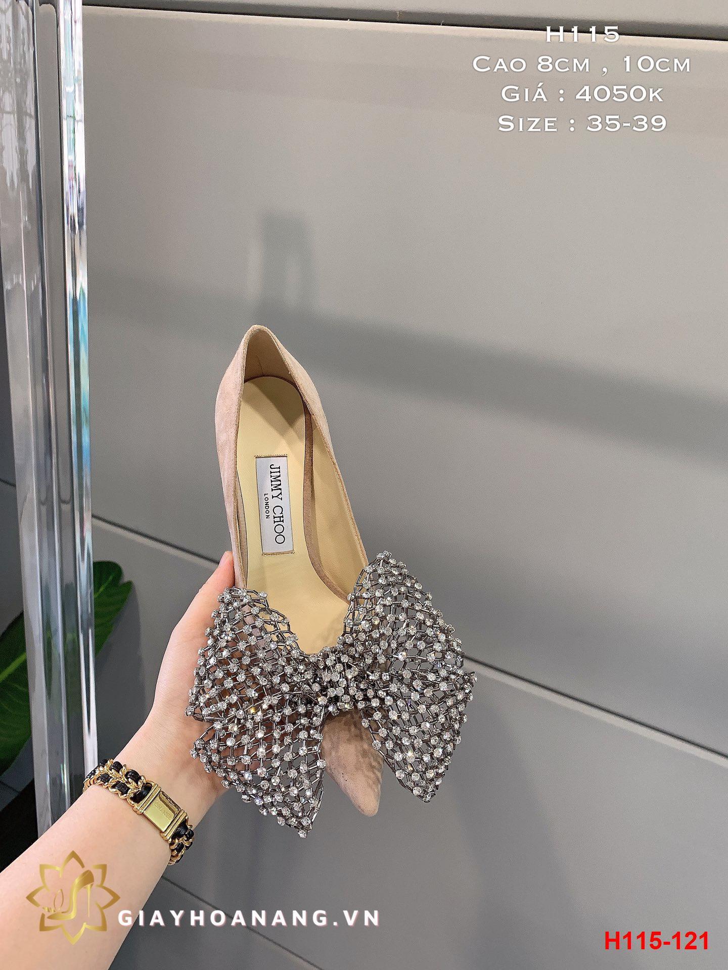 H115-121 Jimmy Choo giày cao 8cm , 10cm siêu cấp
