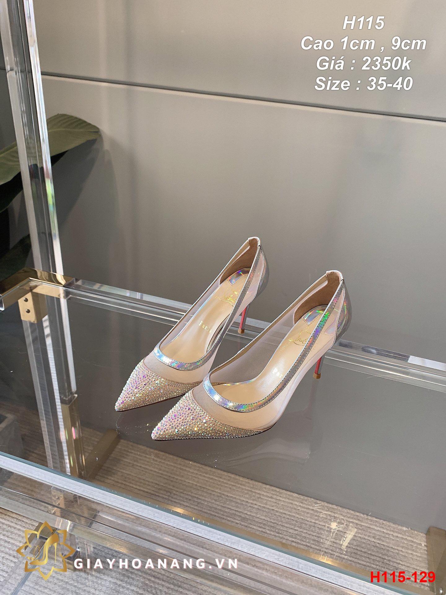 H115-129 Louboutin giày cao 1cm , 9cm siêu cấp